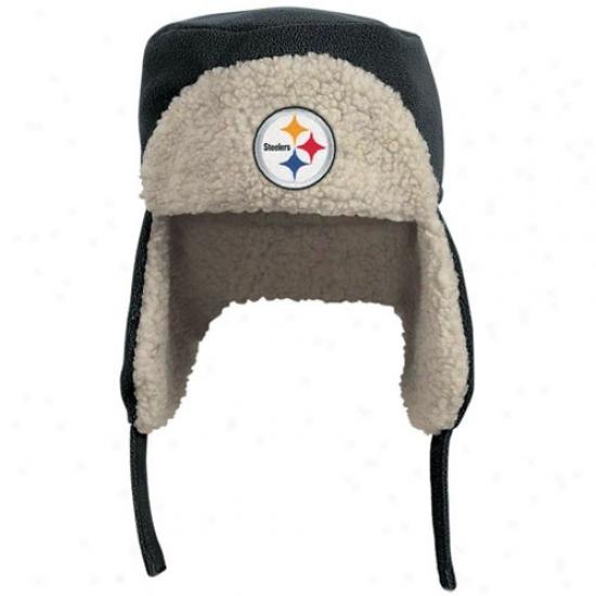 Pittsburgh Steelers Hats : Reebok Pittsburgh Steelers Black Fleece Trooper Hats