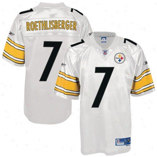 Pittsburgh Steelers Jersey : Reebik Pittsburgh Steelers #7 Ben Roethlisberger Pale Premier Tackle Twill Football Jersey