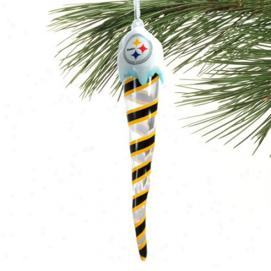 Pittsburgh Steelers Light-up Icicle Oranment