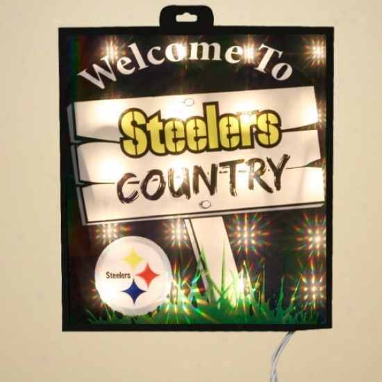 Pittsburgh Steelers Light Up Wall/window Sign