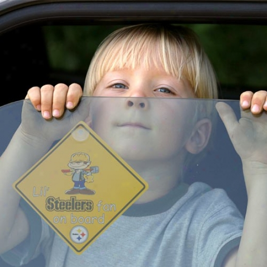 Pittsburgh Steelers Lil' Fan On Board Car Sigh