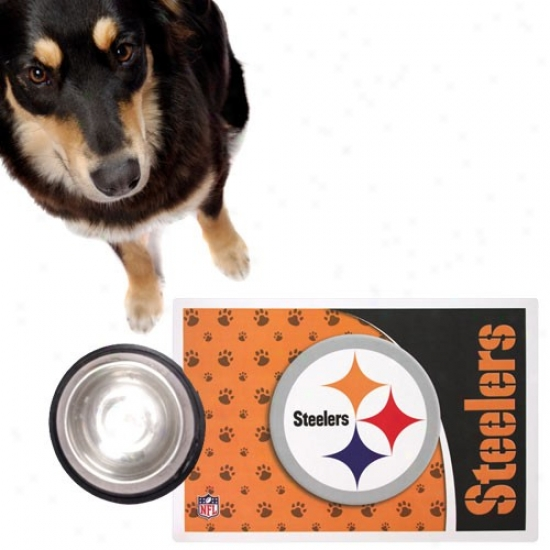 Pittsburgh Steelrrs Pet Mat