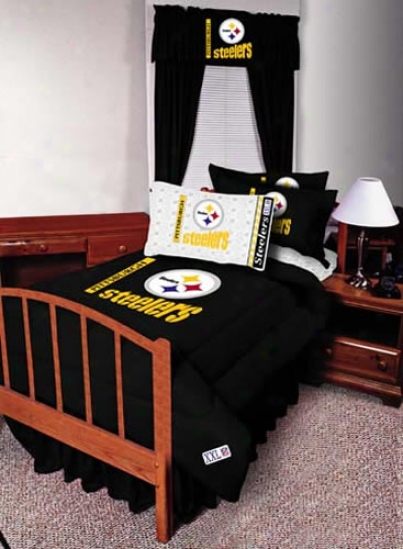 Pittsburgh Steelers Queen Size Bed Skirt