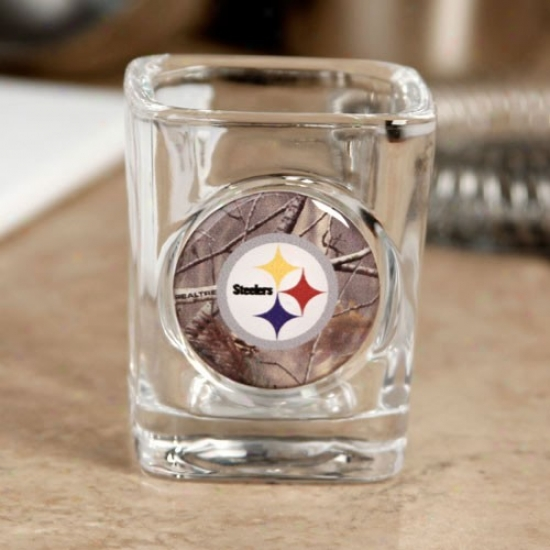 Pittsburgh Steelers Realtree Camo 2 Oz. Square Shot Glass