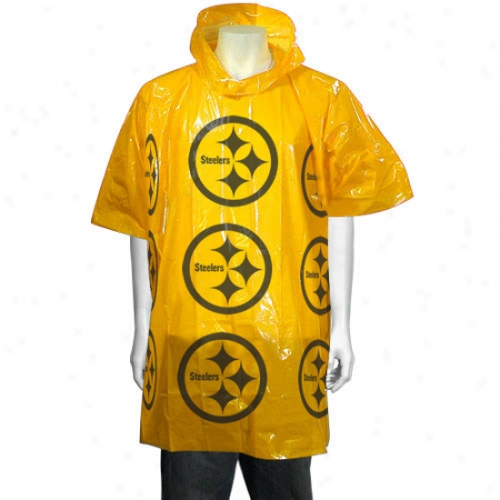 Pittsburgh Steelers Short Sleeve Poncho