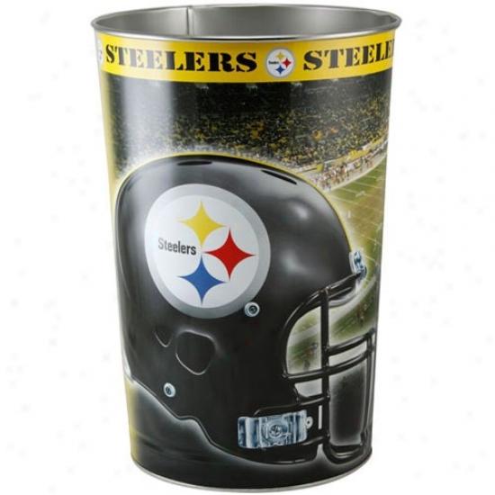 Pittsburgh Steelers Tapered Wastebaskeg