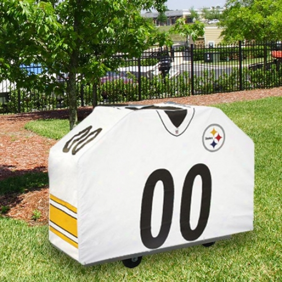 Pittsburgh Steelers White Jersey Bbq Grill Cover