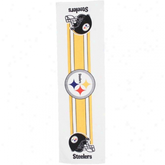 Pittsburgh Steelers White Multi-purpose Towel