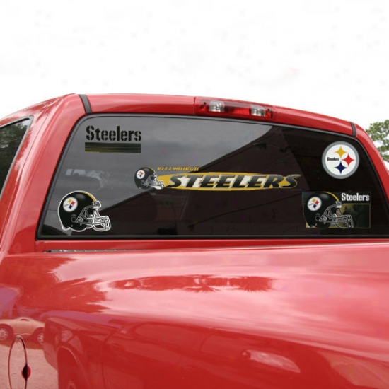 Pittsbyrgh Steelers Window Cling Sheet
