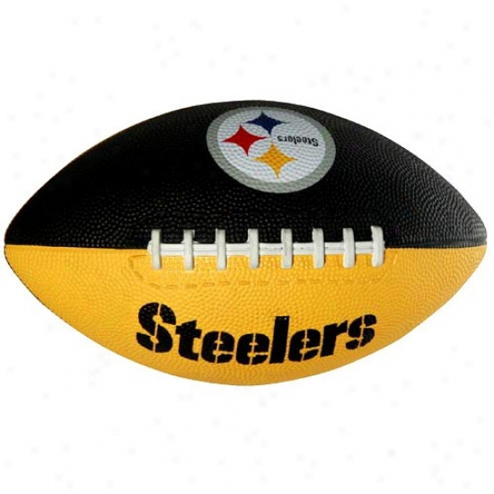 Pittsburgh Steelers Youth Black-gold Hail Mary Rubber Football