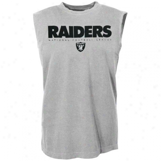 Raiders Apparel: Raiders Ash Critical Victory Sleeveless T-shirt