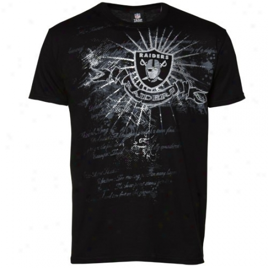 Raiders Apparel: Raiders Black Team Shine Ii T-shirt