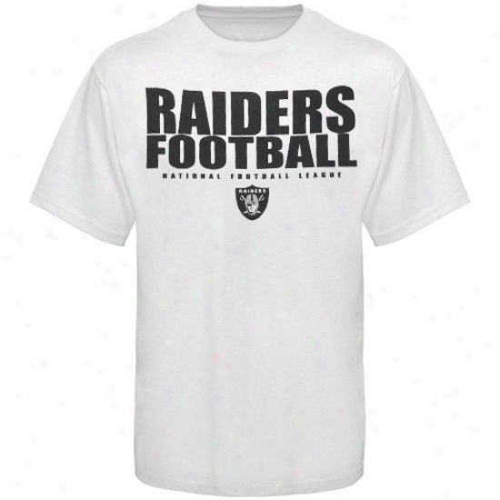 Raiders Attire: Raiders White Field Of Play T-shirt