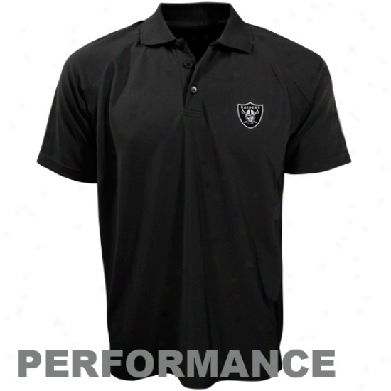 Raiders Clothees: Cutter & Buck Raiders Black Drytec Championship Performance Polo