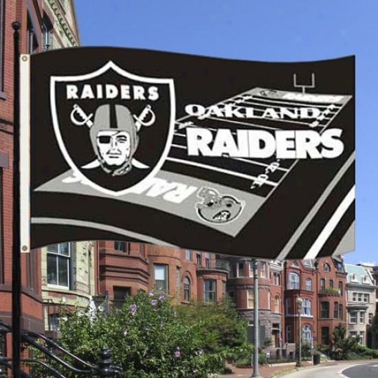 Raiders Flgas : Raiders 3' X 5' Field Flags
