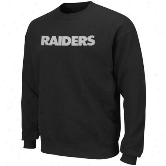 Raiders Fleece : Raiders Black Claswic Crew Iii Fleece