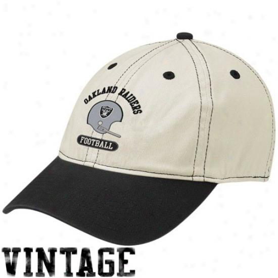 Raiders Hat : Reebok Raiders Stone Retro Helmet Flex Fit Slouch Hat