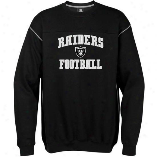 Raiders Hoodie : Raiders Black Classic Crew Hoodie