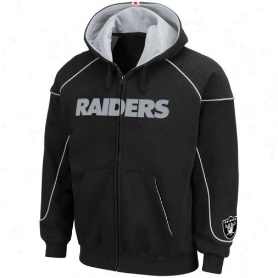 Raiders Hoody : Raiders Black Overtime Vidtory Full Zip Hoody