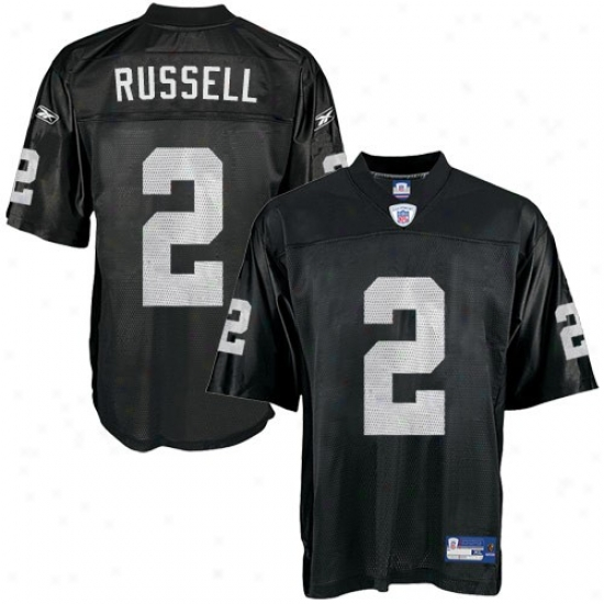 Raiders Jerseys : Reebok Nfl Accoutrement Raiders #2 Jamacrus Russell Black Preschool Replica Jerseys