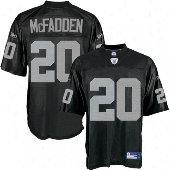 Raiders Jerseys : Reebok Raiders #20  Darren Mcfadden Black Nfl Equipment Replica Jerseys