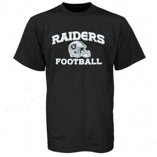Raiders Shirt : Reebok Raiders Youth Black Stacked Helmet Shurt