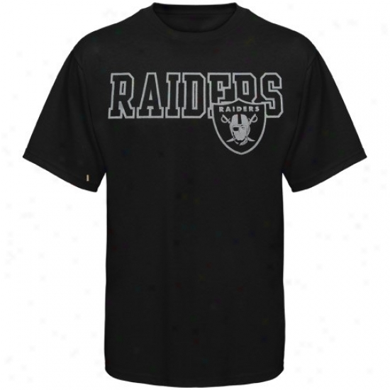 Raiders Tshirt : Reebok Raiders Black Fashion Tshirt