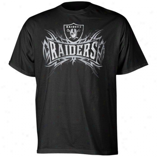 Raidera Tshirt : Reebok Raiders Black Outlast Tshirt