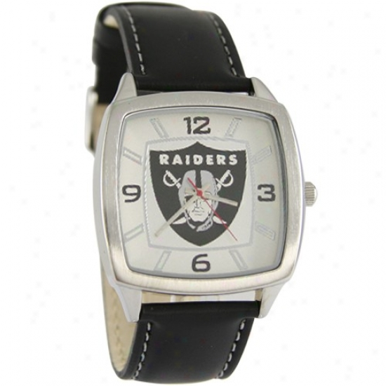 Raiders Watch : Raiders Retro Wait W/ Leather Band