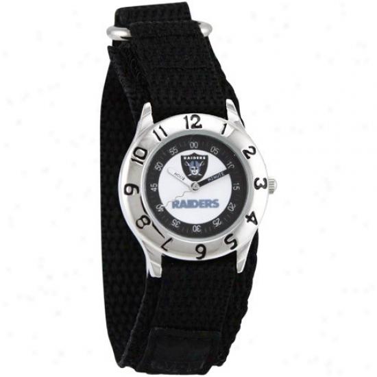 Raiders Watch : Raiders Youth Black Time Teacher Watch