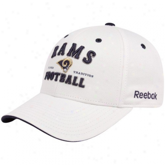 Rams Gear: Reebok Rams Whi5e Tradition Adjustable Cardinal's office