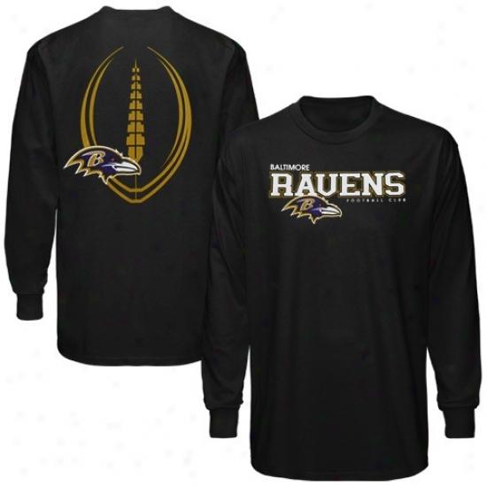 Ravens Apparel: Reebok Ravens Black Ballistic Long Sleeve T-shirt