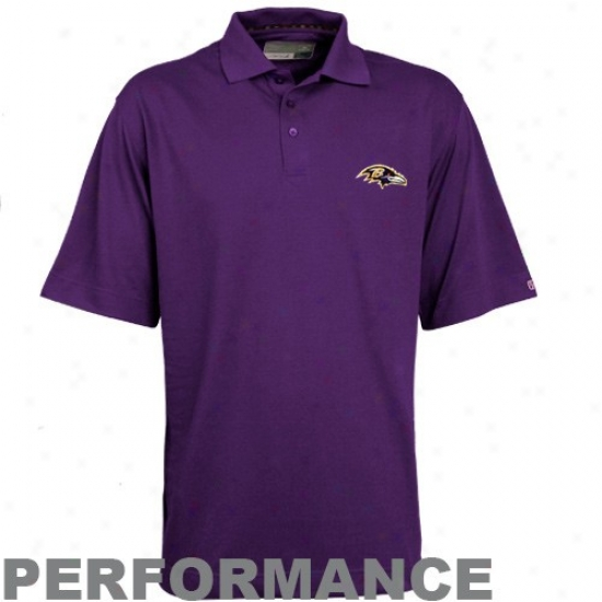 Ravens Clothing: Cutter & Buck Ravens Purple Champions Drytec Performance Polo