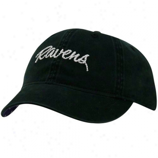 Ravens Hat : Reebok Ravens Ladies Black Charlie Slouch Adjustable Hat