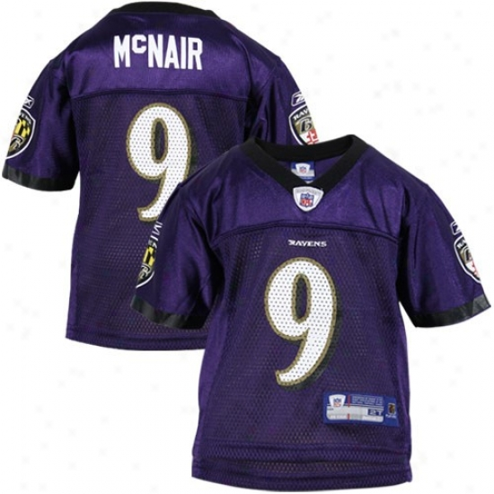 Ravens Jerseys : Reebok Nfl Equipment Ravens #9 Steve Mcnair Purple Toddler Replica Football Jerseys