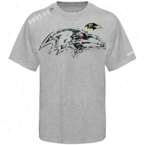 Ravens T-shirt : Reebok Ravens Youth Ash Sideline Stealth T-shirt