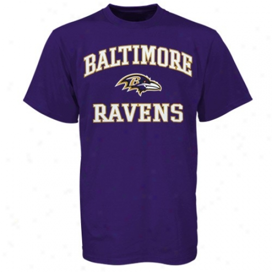 Ravens Tshirt : Ravens Purple Courage & Soul Tshirt