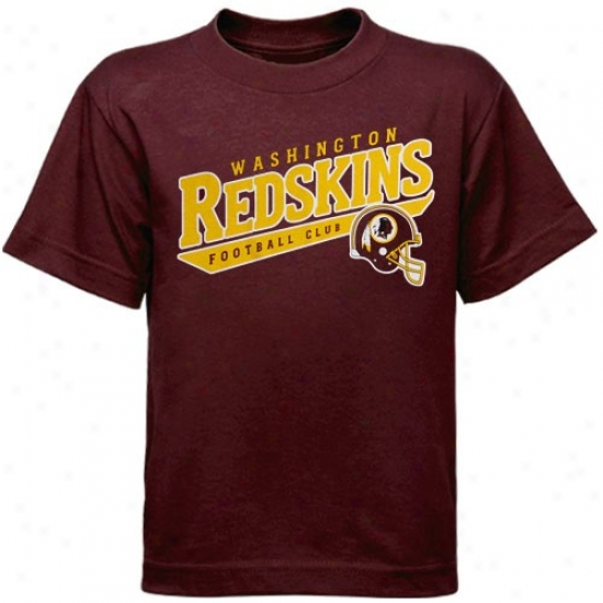Redskin Attire: Reebok Redskin Youtth Burgundy The Call Is Tails T-shirt