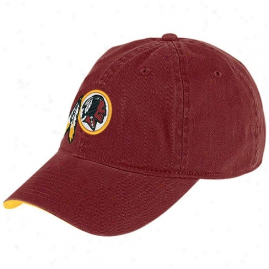 Redskin Hats : Reebok Redskni Burgundy Basic Logo Slouch Hats