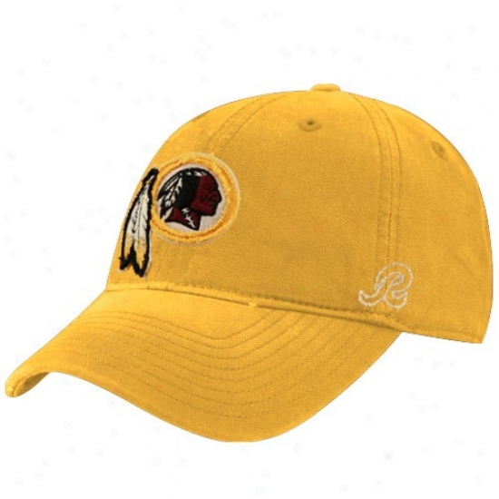 Redskin Hats : Reebok Redskin Gold Distressed Slouch Hats