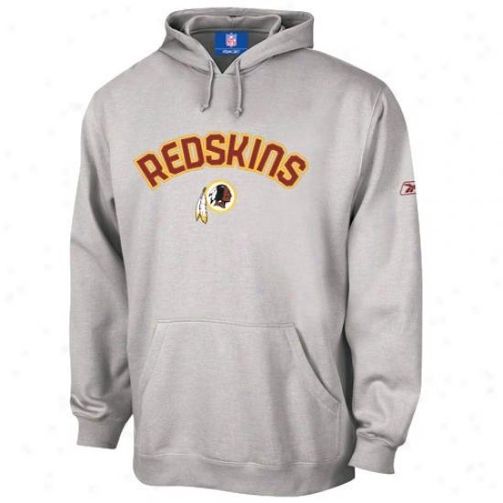 Redskin Hoodie : Reebok Redskin Ash Playbook Hoodie
