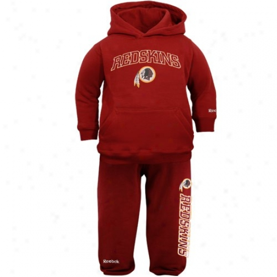 Redskin Hoodies : Reebok Redskin Toddl3r Burgundy Pullover Hoodies And Sweatpants Set