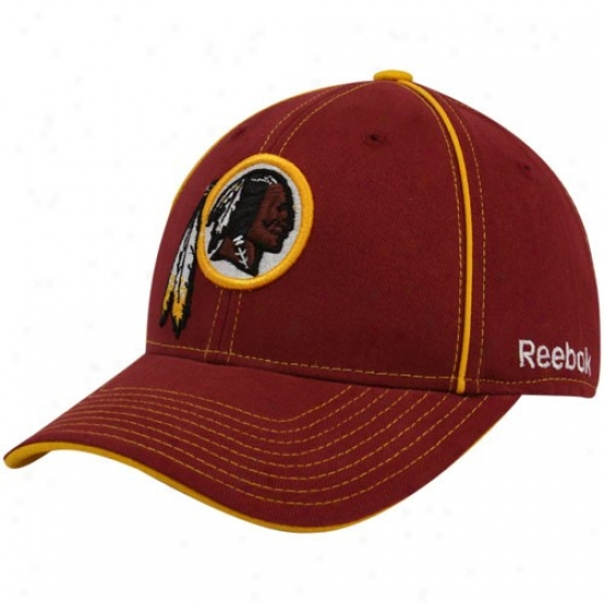 Redskin Merrchandise: Reebok Redskin Burgundy Structured Adjustable Hat