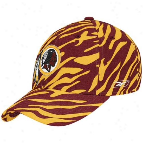 Redskin Mrchandise: Reebok Redskin Gold Youth Zebra Flex Fit Hat