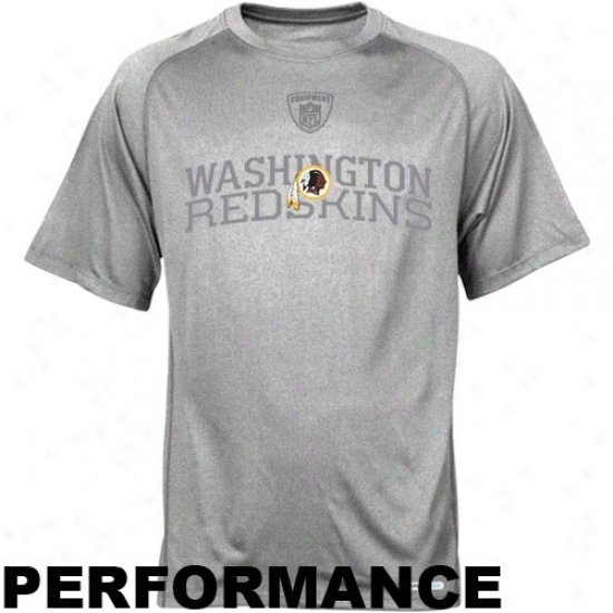 Redskin Shirt : Reebok Nfl Equipment Rwdskin Athletic Gray Founfation Speedwick Performance Shirt