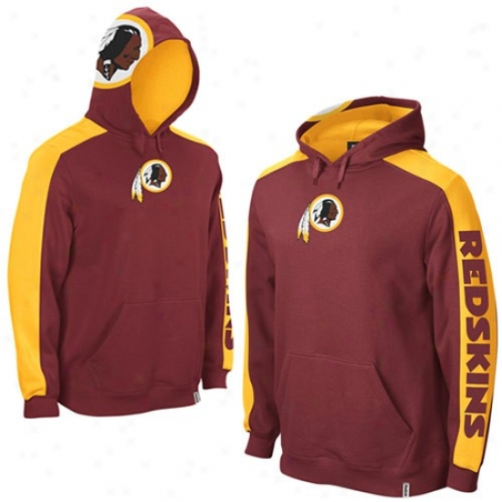 Redskin Sweat Shirts : Reebok Redskin Burgundy Powerhouse Sweat Shirts