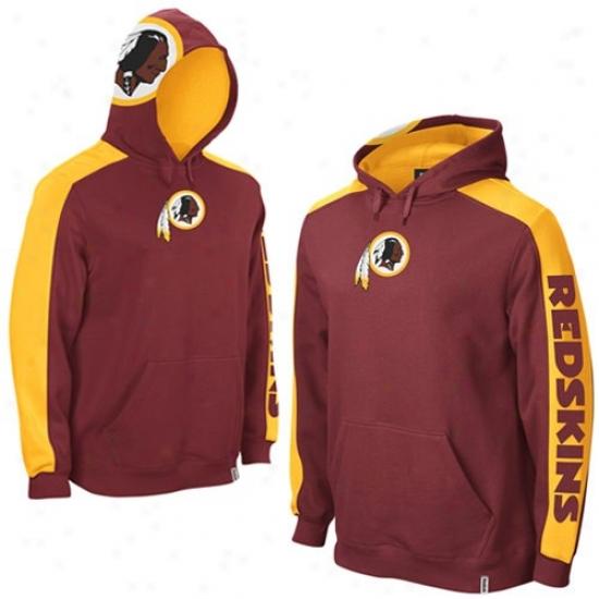 Redskin Sweat Shirts : Reebok Redskin Burgundy Powerhouse Sweat Shirts