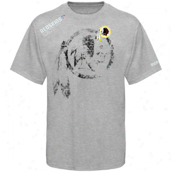 Redskin T Shirt : Reebok Redskin Youth Ash Sideline Stealth T Shirt