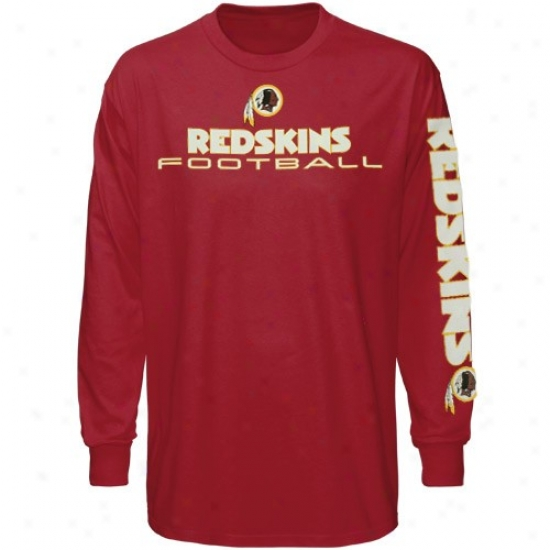 Redskin Tees : Redskin Burgundy Team Shine Long Sleeve Tees