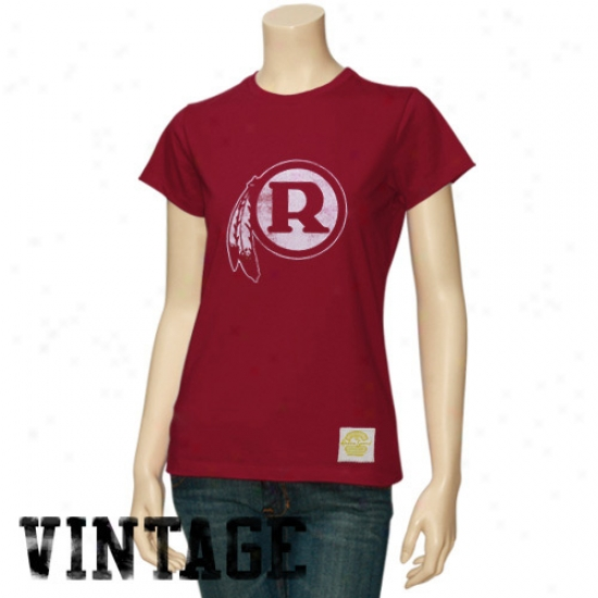 Redskin Tees : Reebok Redskin Ladies Burgundy Better Logo Vintage Premium Tees